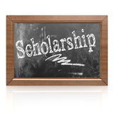Scholarship text written on blackboard Royalty Free Stock Photography