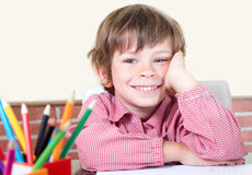 Scholastic boy smiling Stock Photos