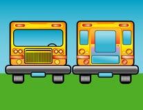 Scholastic bus Stock Image
