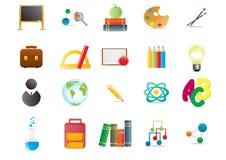 Scholastische pictogrammen Stock Afbeeldingen