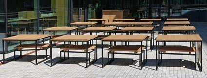 Scholen uit in de zomerconcept Royalty-vrije Stock Foto