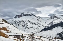 Schollberg (舍尔山)在圣Antoenien,瑞士 库存照片