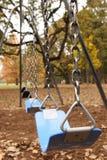 Schommeling die in de Herfst wordt geplaatst Royalty-vrije Stock Foto's