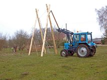 Schommelingsbouw 3 stock fotografie