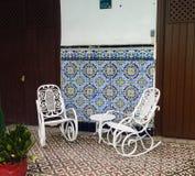 Schommelstoelen in Cuba Royalty-vrije Stock Foto's