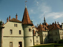 Schonborn城堡在Chynadiyovo,喀尔巴汗乌克兰 库存照片
