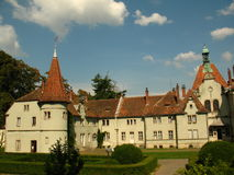 Schonborn Palace in Chynadiyovo, Carpathians Ukraine Stock Image