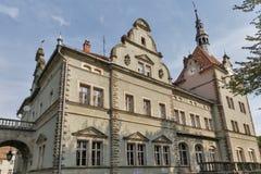 Schonborn Palace in Chynadiyovo, Ukraine. Stock Photos