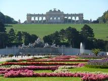 Schonbrun garden and annexe. Schonbrun palace Austria.  Picture taken from garden overlooking annexe Stock Image