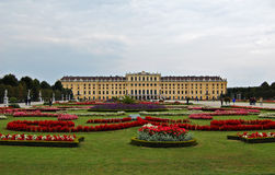 Schonbrun palace. The Palace and gardens of Schonbrun in Vienna Royalty Free Stock Photos