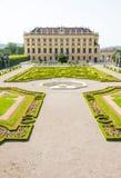 Schonbrunn宫殿在维恩,奥地利 图库摄影