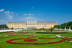 Schonbrunn. View on Schonbrunn Palace, Vienna, Austria Royalty Free Stock Photography