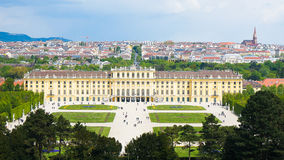 Schonbrunn Baroque Palace in Vienna. is a former imperial summer. Residence Stock Photos