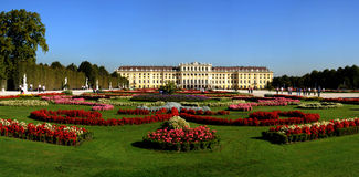 Schonbrunn beauty gardens Stock Images