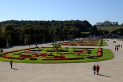 Schonbrunn beauty gardens Royalty Free Stock Photo