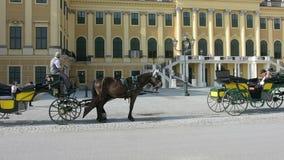 Schonbrunn building in Vienna stock footage