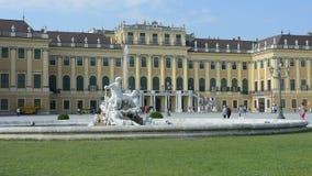 Schonbrunn building in Vienna stock video