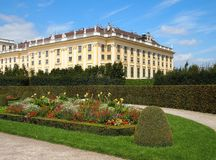 Schonbrunn castle gardens Royalty Free Stock Photography