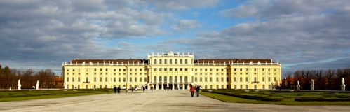 Schonbrunn castle in Wien, Austria Royalty Free Stock Images