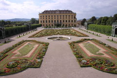 Schonbrunn garden Royalty Free Stock Photo
