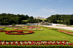 Schonbrunn Gardnes Stock Photography