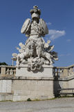 Schonbrunn Gloriette Guardian Statue Royalty Free Stock Photos