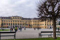 Schonbrunn pałac wejście Obrazy Stock