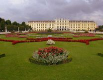 Schonbrunn Palace. Back Yard of Schonbrunn Palace in Vienna, Austria Royalty Free Stock Images