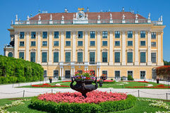 Schonbrunn Palace. Flower bed in front of Schonbrunn Palace, Vienna, Austria Royalty Free Stock Photography