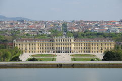 Schonbrunn Palace. Top view of the Schonbrunn Palace from Viena, Austria Royalty Free Stock Image