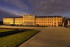 Schonbrunn Palace. A former imperial 1,441-room Rococo summer residence in Vienna, Austria. One of the most important cultural monuments in the country, since Royalty Free Stock Images