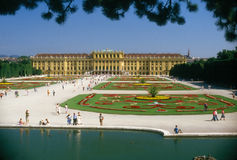 SCHONBRUNN PALACE. Park of the Schonbrunn Palace in Vienna, Austria Royalty Free Stock Images