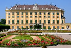 Schonbrunn Palace against the City of Vienna Stock Image