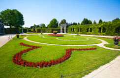 Schonbrunn Palace floral garden Royalty Free Stock Images