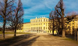 The Schonbrunn Palace is a former imperial summer residence in Vienna, Austria. Royalty Free Stock Images