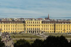 The Schonbrunn Palace is a former imperial summer residence in Vienna, Austria. Royalty Free Stock Photos