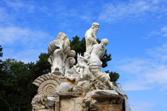 Schonbrunn Palace Fountain Royalty Free Stock Photo