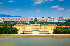 Schonbrunn Palace in front of Vienna Stock Photography