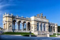 The Schonbrunn Palace Garden Gloriette in Vienna Stock Photography