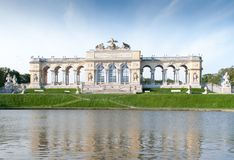 The Schonbrunn Palace Garden Gloriette in Vienna Stock Images