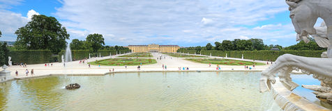 Schonbrunn Palace and garden in Vienna, Austria. Royalty Free Stock Images