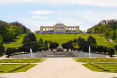 Schonbrunn Palace Gardens and Gloriette ,  Austria Royalty Free Stock Photography