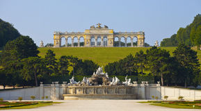 Schonbrunn Palace Gardens at Vienna Stock Images