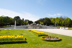Schonbrunn Palace Gardens at Vienna, Austria Stock Photos