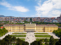 Schonbrunn Palace Gardens at Vienna, Austria. Schonbrunn Palace Gardens at Vienna in spring , UNESCO World Heritage Site Stock Images
