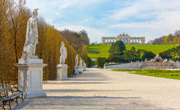 Schonbrunn Palace Gardens in Vienna Royalty Free Stock Photography