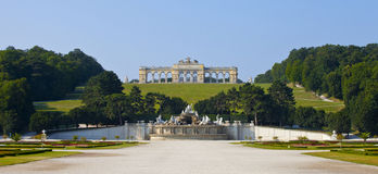 Schonbrunn Palace Gardens at Vienna Royalty Free Stock Images