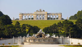 Schonbrunn Palace Gardens at Vienna Royalty Free Stock Photography