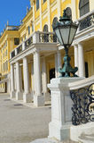 Schonbrunn palace details. Schonbrunn palace, lamp on a stone pillar and other arhitectural details, Vienna, Austria Royalty Free Stock Photography