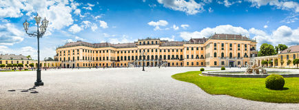 Schonbrunn Palace at main entrance in Vienna, Austria Stock Images